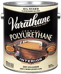Rust-Oleum VARATHANE Oil-Based Polyurethane for Interior Furniture & Wood Polish, 3.78 Liters, SEMI GLOSS Finish