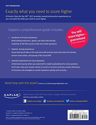 kaplan 8 practice tests for the new sat 2016 pdf