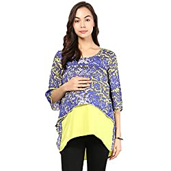Yellow and purple assymetric crop top