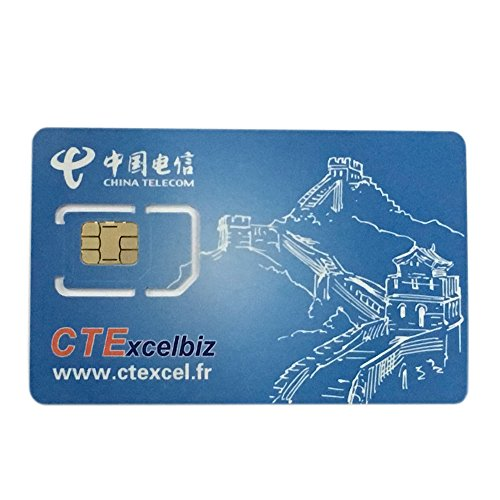 China Telecom CTExcelbiz International European GSM WCDMA 4G Prepaid Mobile  Phone Sim Card for Standard Micro Android Cellphone
