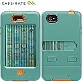 【軍用グレードの最強保護】Case-Mate iPhone 4S / 4 Tank Case, Turquoise / Tangerine Tango タンク ケース, ターコイズ/タンジェリンタンゴ CM020056