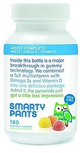 SmartyPants Vitamins Adult Gummy Multivitamins Plus Omega 3's Plus Vitamin D 180 Gummies (30 Day Supply)