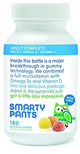 SmartyPants Vitamins Adult Gummy Multivitamins Plus Omega 3's Plus Vitamin D 180 Gummies (30 Day Supply)