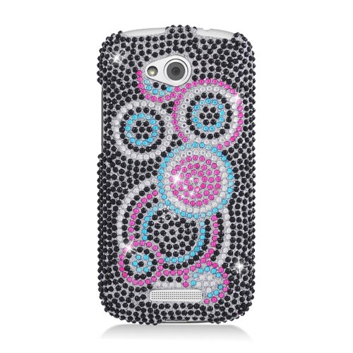 Click to buy Eagle Cell PDHTCONEVXF311 RingBling Brilliant Diamond Case for HTC One VX - Retail Packaging - Colorful Circle - From only $22.99