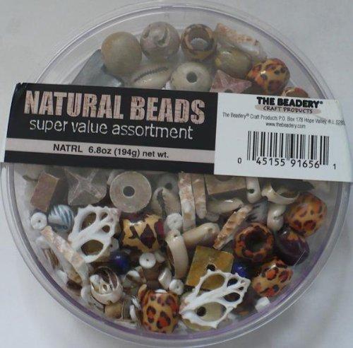 Natural Beads Super Value Assortment - Mixed Variety - 6.8 0z (194g)