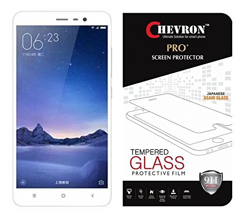 Chevron Premium Tempered Glass Screen Protector Skin Cover for Xiaomi Redmi 3S Prime / Xiaomi Redmi 3S  available at amazon for Rs.99