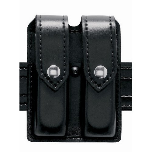 Safariland Duty Gear S and W 59 Hidden Snap Double Handgun Magazine Pouch Basketweave BlackB0000VMXVS : image