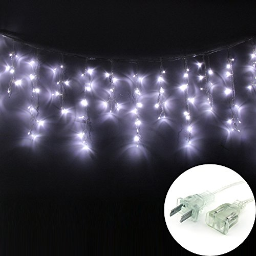 Nexscene 3M X 0.5M 100 Led Icicle Ice Bar Lamp Shimmering Fairy Lights 8 Light Mode For Wedding Christmas Party Holiday(White)