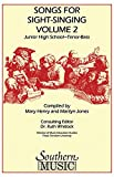 img - for Songs for Sight Singing - Volume 2: Junior High School Edition TB Book book / textbook / text book