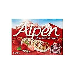 Alpen Strawberry & Yogurt Bar (5x29g) - Pack of 2