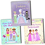 Usborne Sticker Dolly Dressing Collection 3 Activity Books Set Pack RRP: �21.99 (Bridesmaids (Usborne Sticker Dolly Dressing), Holiday (Usborne Sticker Dolly Dressing), Fashion Long Ago (Usborne Sticker Dolly Dressing))by VARIOUS
