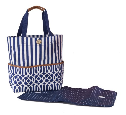 Mud Pie Big Bundle Tote Bag, Navy