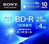 SONY ビデオ用BD-R 追記型 片面1層25GB 4倍速 ホワイトプリンタブル 10枚パック 10BNR1VGPS4