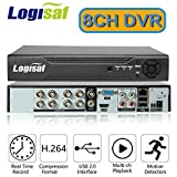 Logisaf 8ch Channel H.264 Cctv Security DVR NVR Digital Video Recorder Mobile Phone Remote Access