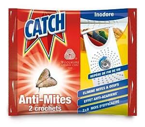 Catch - 19271 - Crochets Anti-Mites Inodore x 2