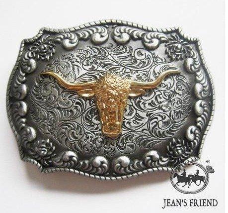 belt new rare buckles men western cowboys cool vintage bull horns