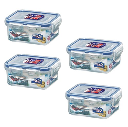 Lock & Lock, No BPA, Water Tight, Food Container, 0.7-cup, 6-oz, Pack of 4, HPL805