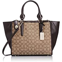 COACH Signature Crosby Carryall (Light/Khaki/Brown)