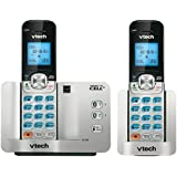 VTech DS6511-2 DECT 6.0 Expandable Cordless Phone with Bluetooth Connect to Cell and Caller ID/Call Waiting, Silver/Black with 2 Handsets