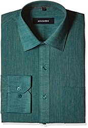 Greenfibre Men's Formal Shirt (40IT_38_Teal Green)