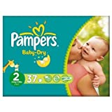 Pampers Baby-Dry Nappies Size 2 Mini