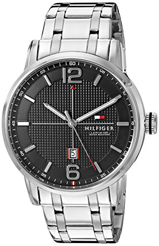 Tommy-Hilfiger-Mens-1791215-George-Analog-Display-Japanese-Quartz-Silver-Tone-Watch