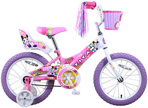 Titan Girl's Flower Princess BMX Bike, Pink, 16-Inch 1