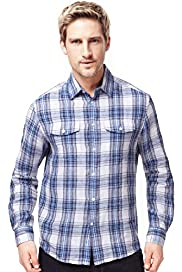 Blue Harbour Pure Linen Checked Shirt