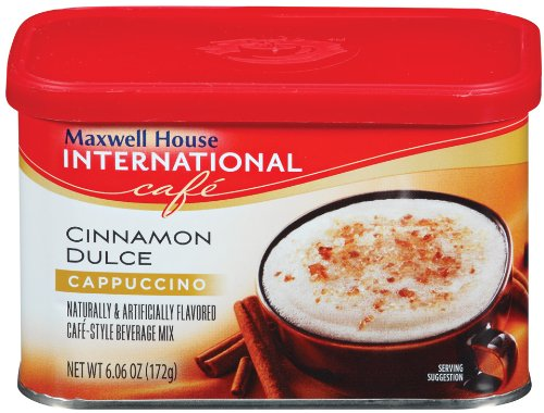 Maxwell House International Caf? Cinnamon Dulce Cappuccino, 6.06-Ounce Packages (Pack Of 6)