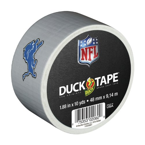 Duck Brand 240549 Detroit Lions Nfl Team Logo Duct Tape, 1.88-Inch By 10 Yards, Single Roll