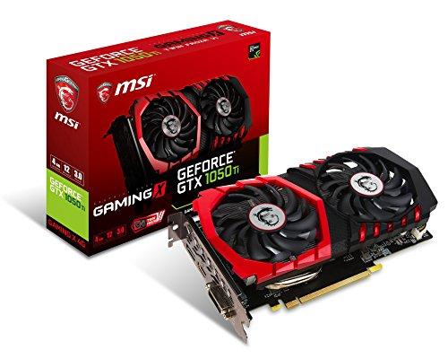 MSI GAMING GeForce GTX 1050 Ti 4GB GDDR5 DirectX 12 Graphics Card (GTX 1050 TI GAMING X 4G)
