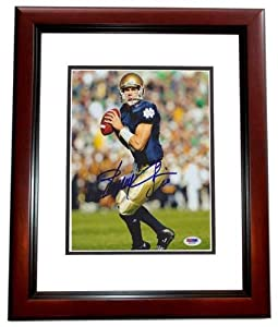 Signed Brady Quinn Photo - MAHOGANY CUSTOM FRAME PSA DNA Authenticity - Autographed NFL Photos