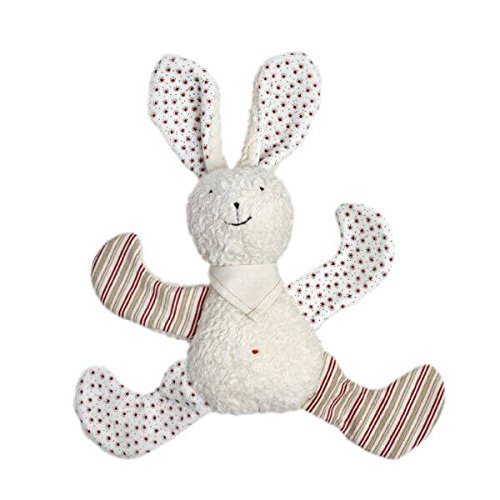 Organic Cotton White Bunny Rabbit filled with Wool - 1