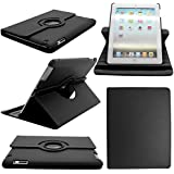 case-cover-mobile@360 ROTATING FLIP LEATHER CASE COVER FOR THE NEW IPAD MINI(BBLACK)