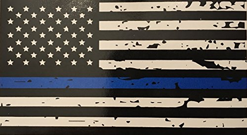 blueline-flags-tattered-thin-blue-line-vinyl-reflective-decal-black-white-blue-american-flag-sticker