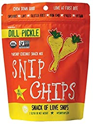 Wonderfully Raw Organic Snip Chips Dill Pickle, 2 Ounce