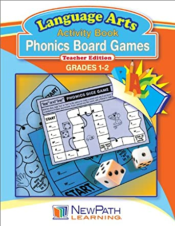 NewPath Learning Phonics Board Games Reproducible Workbook, Grade 1-2