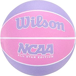 Wilson NCAA Mini Rubber Basketball Pink/Purple