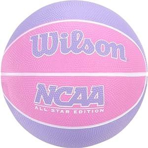 Wilson NCAA Mini Rubber Basketball Pink/Purple