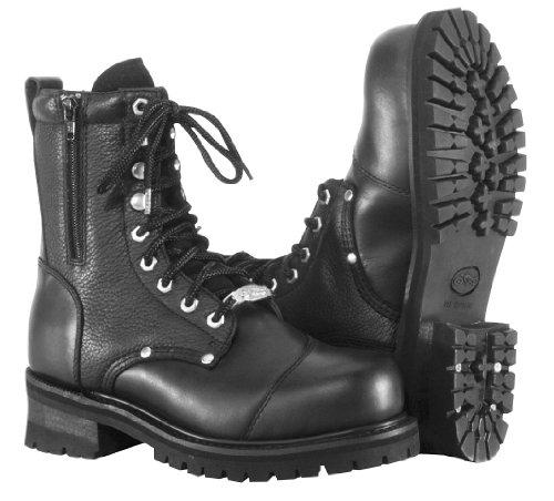 River Road Double Zipper Field Boots - 13/Black