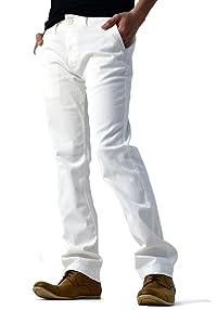 (フラグオンクルー) FLAG ON CREW チノパン メンズ ストレッチ 超微起毛ツイル ベーシック綿パンツ S M L XL / B1H