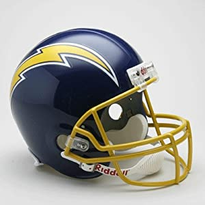San Diego Chargers 1974-87 Throwback Riddell Deluxe Replica Helmet by Caseys