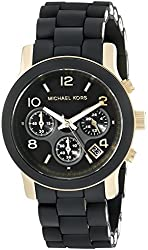 Michael Kors Women's MK5191 Runway Black Stainless Steel Watch