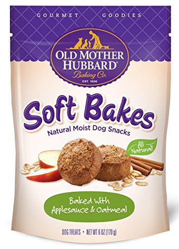 Old Mother Hubbard Gourmet Goodies Soft Bakes Natural Dog Treats, Applesauce & Oatmeal, 6-Ounce Bag (Bake Dog Treats compare prices)
