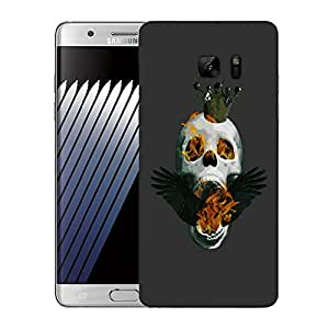 Snoogg Skull On Fire Designer Protective Back Case Cover For SAMSUNG Galaxy NOTE 7