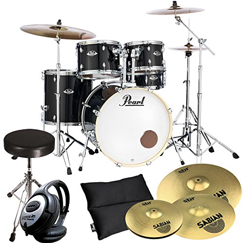 pearl-export-exx725z-c31-black-inkl-becken-keepdrum-drum-hocker-kopfhorer