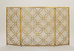 "Benzara 50383 Wonderful Metal Fire Screen, 53"" W x 31"" H by Benzara"