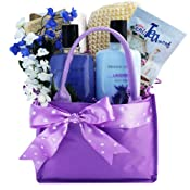 Art Of Appreciation Gift Basket Tranquil Delights Lavender Spa Bath and Body Tote.
