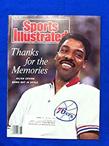 1987 Sports Illustrated May 4 Julius Erving Retires Philadelphia 76ers Excellent to Mint