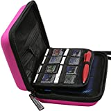 BRENDO New 3DS XL / 3DS Case with 16 Game Cartridge Holders - Pink (Money Back Guarantee)